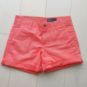 Gap coral chino shorts